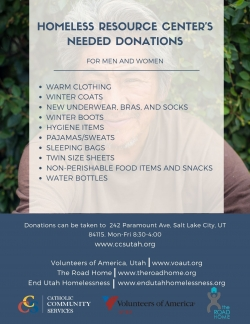Homeless Services Donation Drive